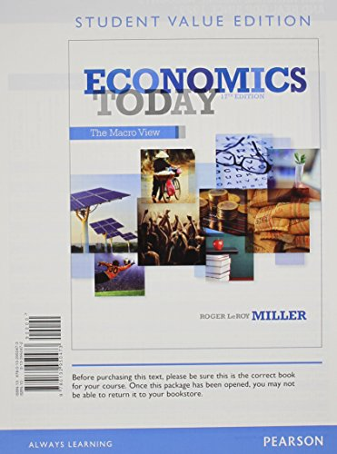 9780132950473: Economics Today: The Macro View, Student Value Edition (17th Edition)