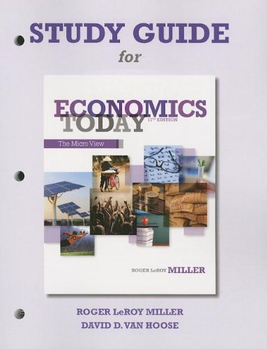9780132950565: Study Guide for Economics Today: The Micro View