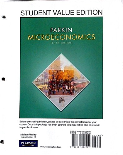 9780132951005: Microeconomics, Student Value Edition, Plus NEW MyEconLab with Pearson eText -- Access Card Package (10th Edition)
