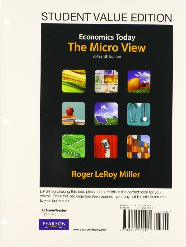 9780132951449: Student Value Edition for Economics Today: The Micro View Plus NEW MyEconLab with Pearson eText -- Access Card Package (16th Edition)