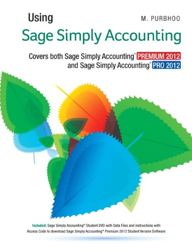 9780132951739: Using Sage Simply Accounting 2012 with Text Enrichment Site