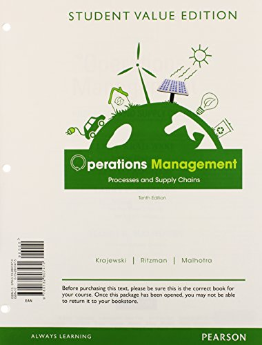 9780132951814: Operations Management: Processes and Supply Chains, Student Value Edition Plus NEW MyOMLab with Pearson eText -- Access Card Package (10th Edition)