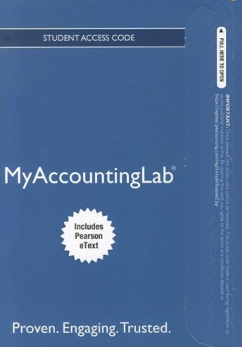 NEW MyAccountingLab with Pearson eText -- Access Card -- for Introduction to Management Accounting: Ch's 1-17 (MyAccountingLab (Access Codes)) (9780132952682) by Charles T. Horngren; Gary L. Sundem; William O. Stratton; Dave Burgstahler; Jeff O. Schatzberg