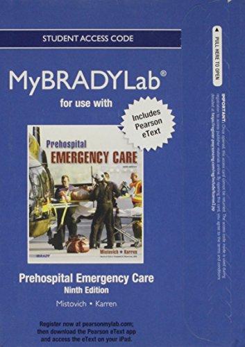 9780132955041: NEW MyBradyLab with Pearson etext -- Access Card -- for Prehospital Emergency Care