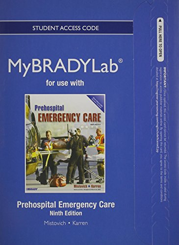 9780132955058: NEW MyBradyLab without Pearson eText -- Access Card -- for Prehospital Emergency Care (9th Edition)