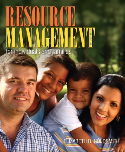 9780132955140: Resource Management for Individuals and Families (5th Edition)