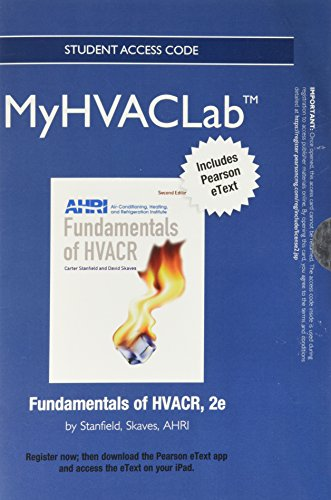 9780132955720: NEW MyHVACLab with Pearson eText -- Access Card -- For Fundamentals of HVACR