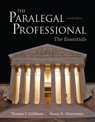 9780132956048: The Paralegal Professional: Essentials (4th Edition)