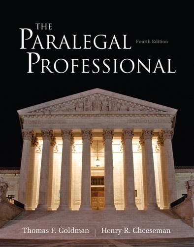 The Paralegal Professional (4th Edition): Goldman, Thomas F.,