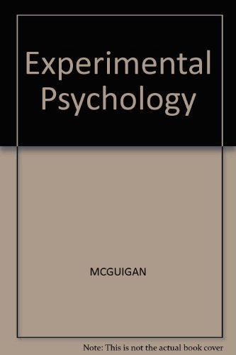 9780132958097: Experimental Psychology