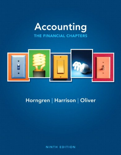 9780132959698: Accounting, Chapters 1-15 (Financial chapters) Plus NEW MyLab with Pearson eText -- Access Card Package (9th Edition)