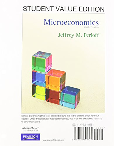 9780132959742: Microeconomics, Student Value Ediiton Plus NEW MyEconLab with Pearson eText -- Access Card Package (6th Edition)