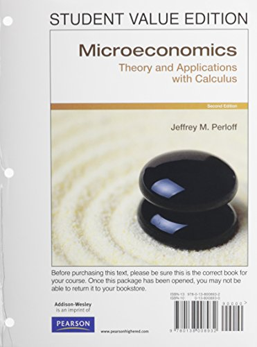 9780132961912: Micoreconomics: Theory & Applications with Calculus, Student Value Edition Plus NEW MyEconLab with Pearson eText -- Access Card Package (2nd Edition)