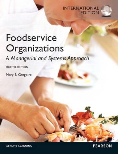 9780132965118: Food Service Organizations
