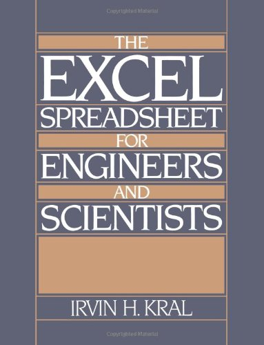 9780132967655: The Excel Spreadsheet for Engineers and Scientists