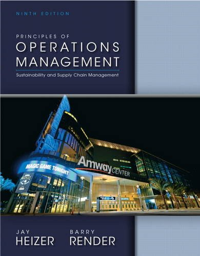 9780132968362: Principles of Operations Management