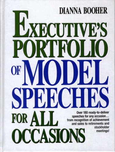 9780132969895: Executive's Portfolio of Model Speeches for All Occasions (Business Classics (Hardcover Prentice Hall))