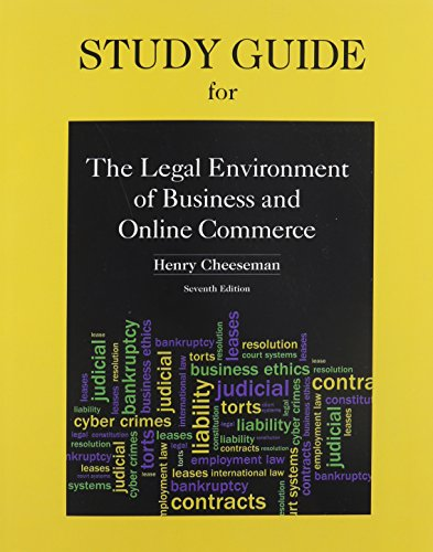 9780132969949: Study Guide for Legal Environment of Business and Online Commerce