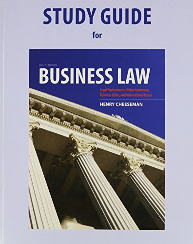"""business consumer law study guide Business law notes business study questions for part 4: business duplessis and o'byrne define law as """"a set of rules and principles intended to guide."""