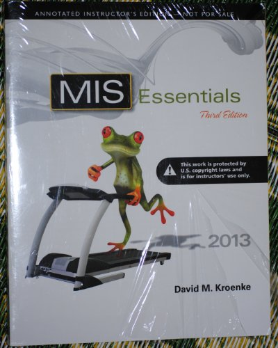 9780132970815: MIS Essentials - Annotated Instructor's Edition