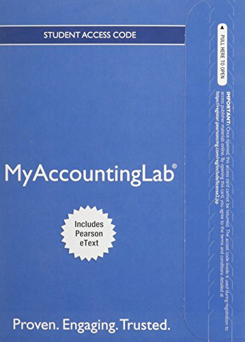 9780132970907: NEW MyAccountingLab with Pearson eText -- Access Card -- for Financial Accounting (MyAccountingLab (Access Codes))