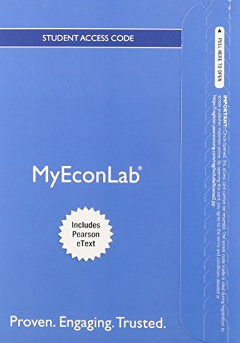 9780132971249: NEW MyEconLab with Pearson eText -- Access Card -- for Survey of Economics: Principles, Applications and Tools