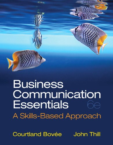 9780132971324: Business Communication Essentials (6th Edition)