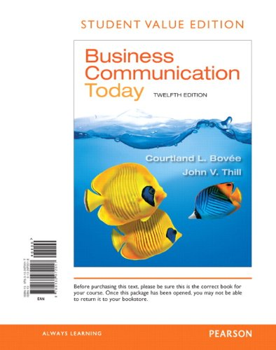 9780132972017: Business Communication Today, Student Value Edition (12th Edition)
