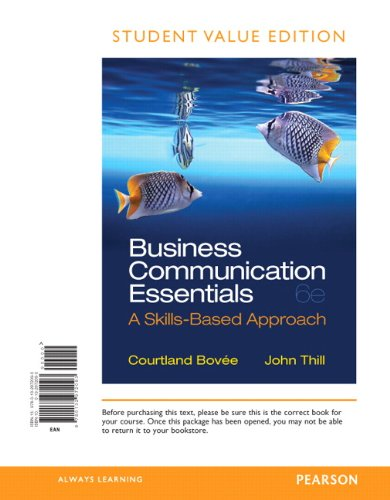 9780132972093: Business Communication Essentials, Student Value Edition (6th Edition)
