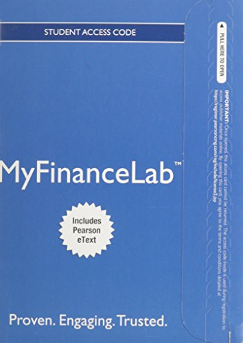 9780132972369: NEW MyFinanceLab with Pearson eText -- Access Card -- for Personal Finance: Turning Money into Wealth