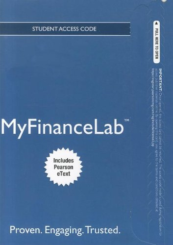 9780132972444: NEW MyFinanceLab with Pearson eText -- Access Card -- for Fundamentals of Investing (MyFinanceLab (Access Codes))