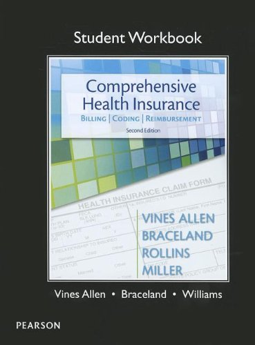 9780132973021: student Workbook for Comprehensive Health Insurance: Billing, Coding & Reimbursement