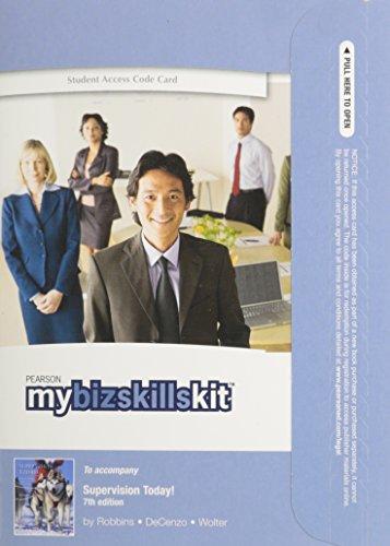 9780132973656: MyBizSkillsKit -- Access Card -- Supervision Today!