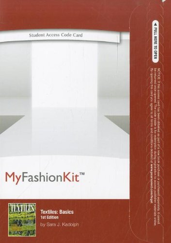 9780132973717: MyFashionKit -- Access Card -- for Textiles: Basics (MyFashionKit (Access Codes))