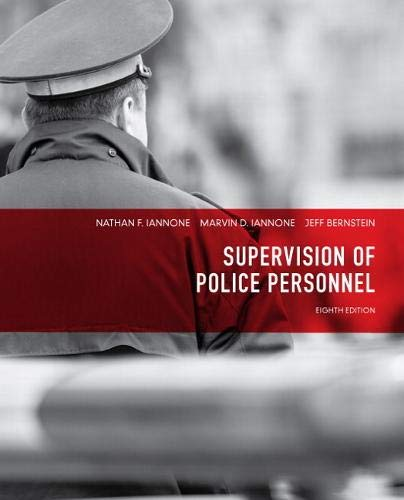 9780132973823: Supervision of Police Personnel (8th Edition)