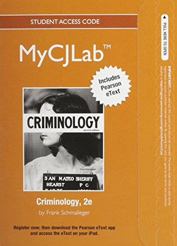 9780132973922: NEW MyCJLab with Pearson eText -- Access Card -- for Criminology