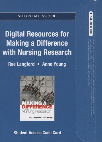9780132973984: Textbook Resources for Making a Difference with Nursing Research -- Access Card