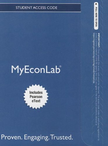 9780132975476: NEW MyEconLab with Pearson eText -- Access Card -- for Microeconomics: Principles, Applications and Tools (MyEconLab (Access Codes))