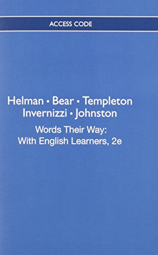 9780132983853: Words Their Way: With English Learners, 2e