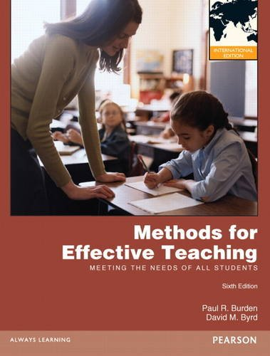 9780132984867: Methods for Effective Teaching: Meeting the Needs of All Students Pie No Us Sale