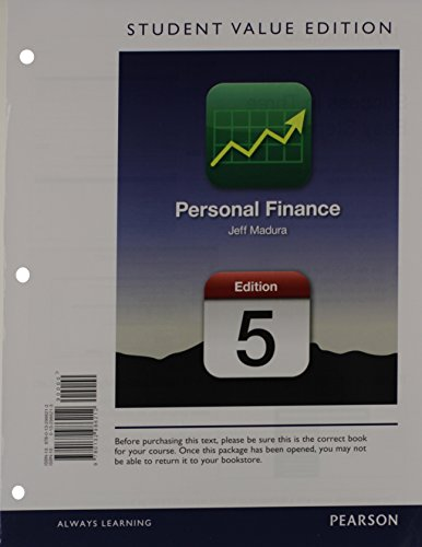9780132986212: Personal Finance, Student Value Edition (5th Edition) (The Pearson Series in Finance)