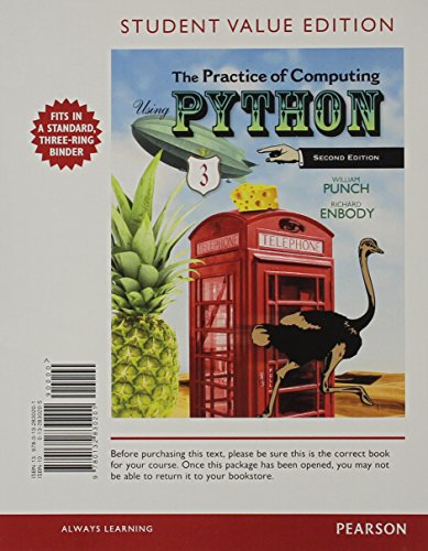9780132990028: Student Value Edition for The Practice of Computing Using Python Plus MyProgrammingLab with Pearson eText -- Access Card Package (2nd Edition)