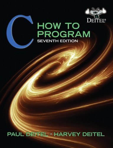 9780132990448: C: How to Program, 7th Edition