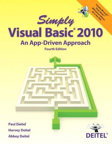 9780132990608: Simply Visual Basic 2010: An App-Driven Approach (4th Edition)