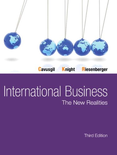 9780132991261: International Business: The New Realities (3rd Edition)