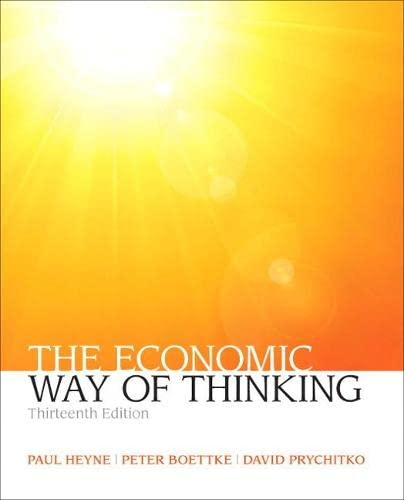 9780132991292: The Economic Way of Thinking (13th Edition) (Pearson Series in Economics)