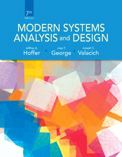 9780132991308: Modern Systems Analysis and Design (7th Edition)