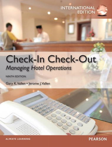 9780132991346: Check-in Check-Out: Managing Hotel Operations: International Edition