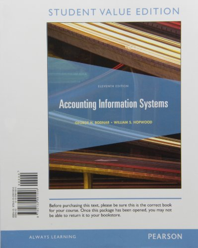 9780132991506: Accounting Information Systems, Student Value Edition (11th Edition)