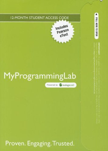 9780132991568: MyProgrammingLab with Pearson eText -- Access Card -- for Introduction to Java Programming, Brief Version (MyProgrammingLab (Access Codes))